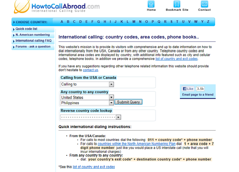 Call-abroad